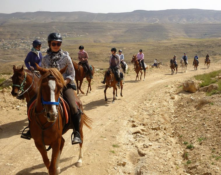 2.5 hours horse ride (around Petra mountains):