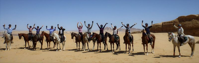 Horse ride to the High Place of Sacrifice in Petra: